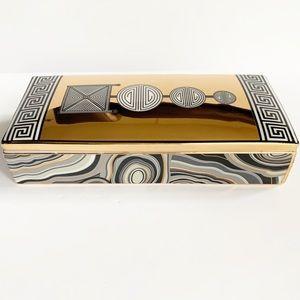 Jonathan Adler Modernist Topiary Gold Trinket Box